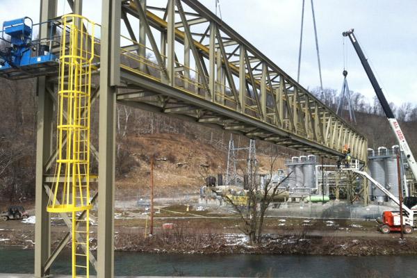 Truss pipe racks pipe bridges pipe support